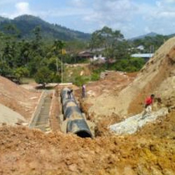 Floline Pipeline at Gua Musang